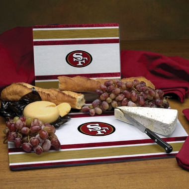 San Francisco 49ers Cutting Board Set
