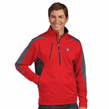 San Francisco 49ers Mens Discover 1/4 Zip Pullover (Team Color: Red)
