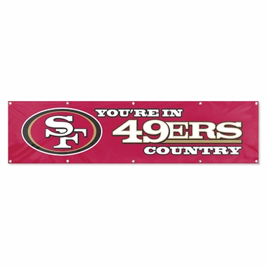 San Francisco 49ers Eight Foot Banner