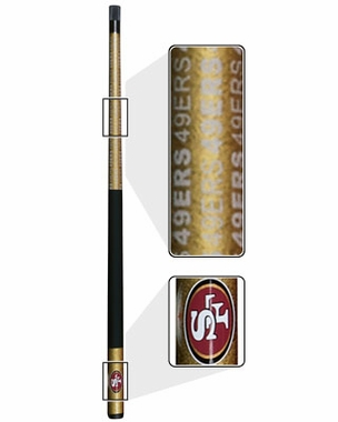 San Francisco 49ers Eliminator Pool Cue