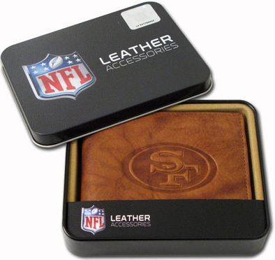 San Francisco 49ers Embossed Leather Bifold Wallet