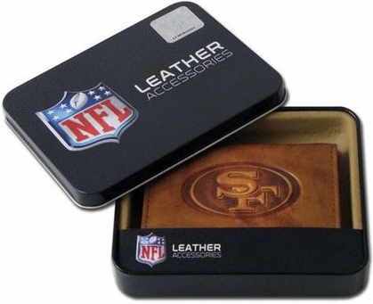 San Francisco 49ers Embossed Leather Trifold Wallet