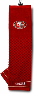 San Francisco 49ers Embroidered Golf Towel