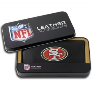 San Francisco 49ers Embroidered Leather Checkbook Cover