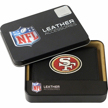 San Francisco 49ers Embroidered Leather Tri-Fold Wallet