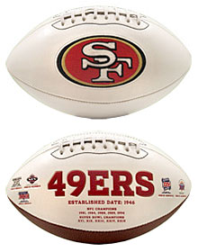San Francisco 49ers Embroidered Signature Series Football