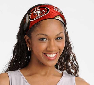 San Francisco 49ers FanBand Hair Band