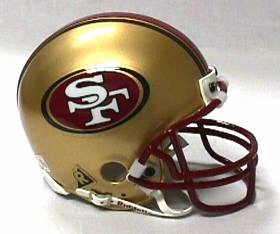 San Francisco 49ers Football Helmet - Mini Replica