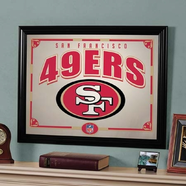 San Francisco 49ers Framed Mirror
