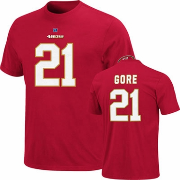 San Francisco 49ers Frank Gore Eligible Receiver Player T-Shirt