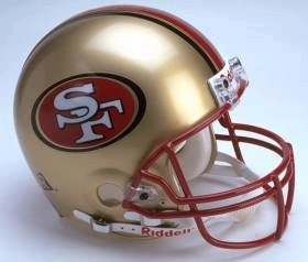San Francisco 49ers Full Sized Replica Helmet