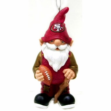 San Francisco 49ers Gnome Christmas Ornament