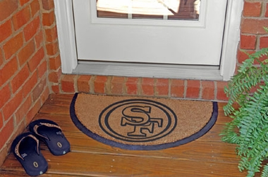 San Francisco 49ers Half Moon Door Mat