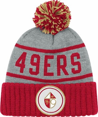 San Francisco 49ers High 5 Vintage Cuffed Pom Hat