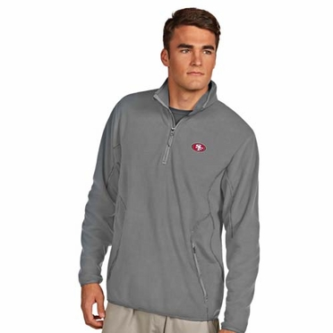 San Francisco 49ers Mens Ice Polar Fleece Pullover (Color: Gray)