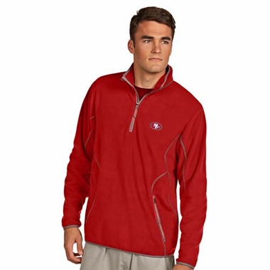 San Francisco 49ers Mens Ice Polar Fleece Pullover (Team Color: Red)