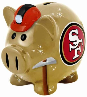 San Francisco 49ers Large Thematic Piggy Bank