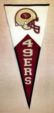 San Francisco 49ers Large Wool Pennant