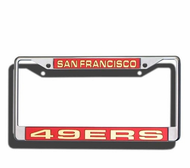 San Francisco 49ers Laser Etched Chrome License Plate Frame