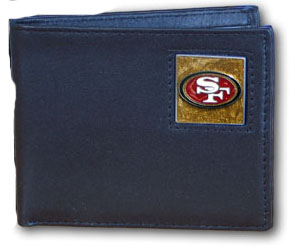 San Francisco 49ers Leather Bifold Wallet (F)