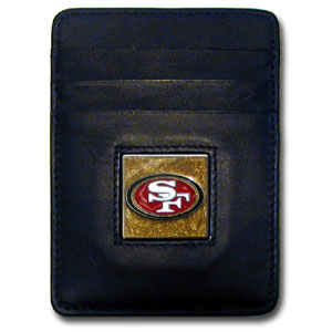San Francisco 49ers Leather Money Clip (F)