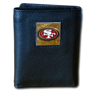 San Francisco 49ers Leather Trifold Wallet (F)