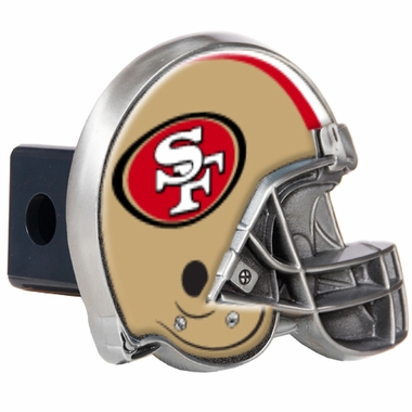 San Francisco 49ers Metal Helmet Trailer Hitch Cover