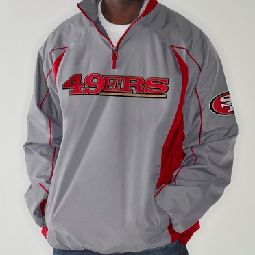 San Francisco 49ers NFL G-III Fair Catch 1/4 Zip Jacket - Charcoal