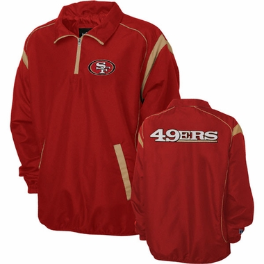 San Francisco 49ers NFL Red Zone 1/4 Zip Red Jacket