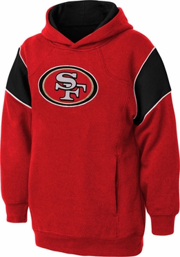 San Francisco 49ers NFL YOUTH Color Block Pullover Hooded Sweatshirt