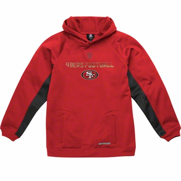 San Francisco 49ers NFL YOUTH Endurance Performance Pullover Hooded Sweatshirt