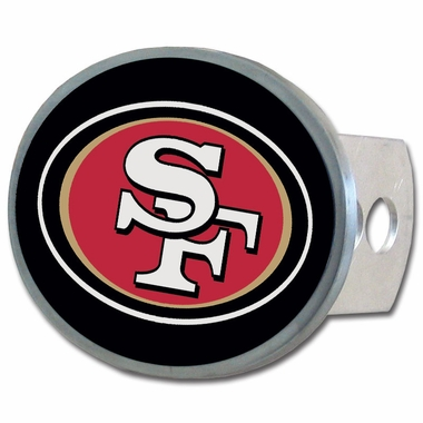 San Francisco 49ers Oval Metal Hitch Cover