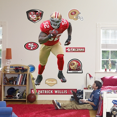 San Francisco 49ers Patrick Willis Fathead Wall Graphic