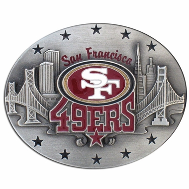 San Francisco 49ers Enameled Belt Buckle