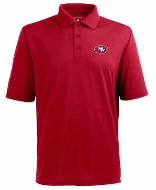 San Francisco 49ers Mens Pique Xtra Lite Polo Shirt (Team Color: Red)