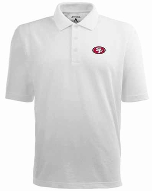 San Francisco 49ers Mens Pique Xtra Lite Polo Shirt (Color: White)