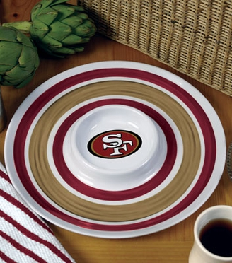 San Francisco 49ers Plastic Chip and Dip Plate