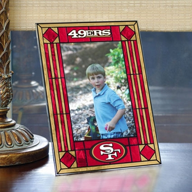 San Francisco 49ers Portrait Art Glass Picture Frame