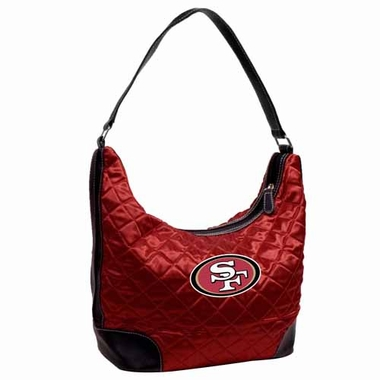 San Francisco 49ers Quilted Hobo Purse