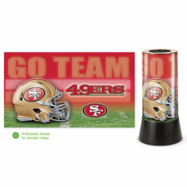 San Francisco 49ers Rotating Lamp