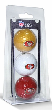 San Francisco 49ers Set of 3 Multicolor Golf Balls