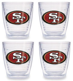 San Francisco 49ers Set of FOUR 12 oz. Tervis Tumblers