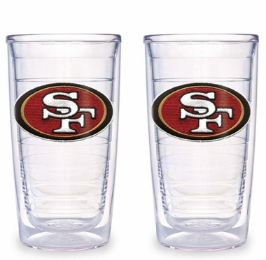 San Francisco 49ers Set of TWO 16 oz. Tervis Tumblers