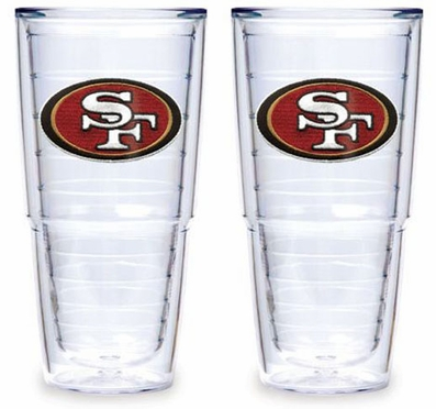 "San Francisco 49ers Set of TWO 24 oz. ""Big T"" Tervis Tumblers"