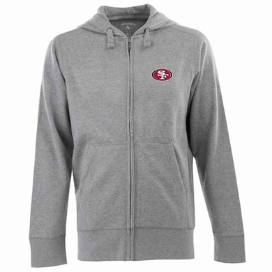 San Francisco 49ers Mens Signature Full Zip Hooded Sweatshirt (Color: Gray)