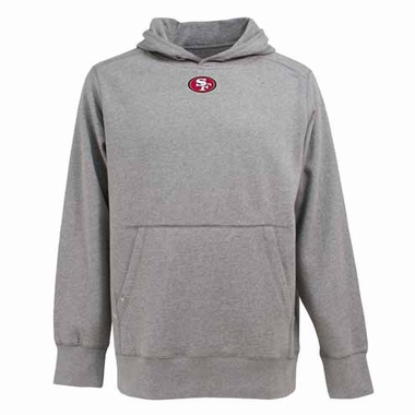 San Francisco 49ers Mens Signature Hooded Sweatshirt (Color: Gray)