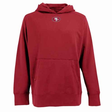 San Francisco 49ers Mens Signature Hooded Sweatshirt (Team Color: Red)