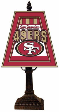 San Francisco 49ers Small Art Glass Lamp