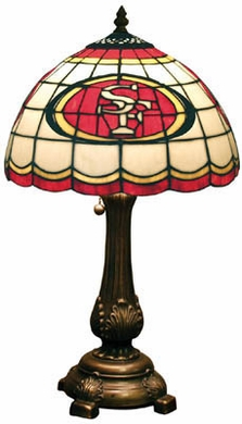 San Francisco 49ers Stained Glass Table Lamp