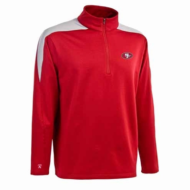 San Francisco 49ers Mens Succeed 1/4 Zip Performance Pullover (Team Color: Red)